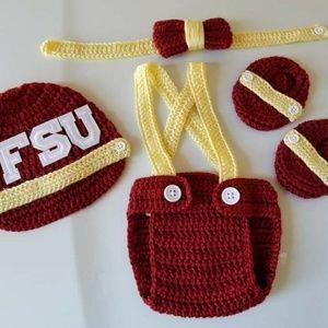 Other - Crochet Baby Boy FSU Football